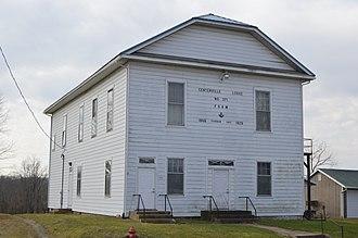 Centerville, Gallia County, Ohio - Masonic lodge building on State Street