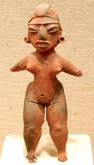 "Mesoamerican chronology - A typical Pre-Classic figurine from central Mexico, similar to the ""pretty ladies"" of the Tlatilco culture."