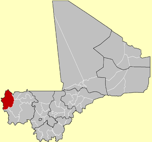 Location of Kayes Cercle in Mali
