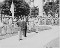 Ceremony at the statue of South American patriot San Martin in Washington, D. C. President Truman is not present at... - NARA - 199742.tif