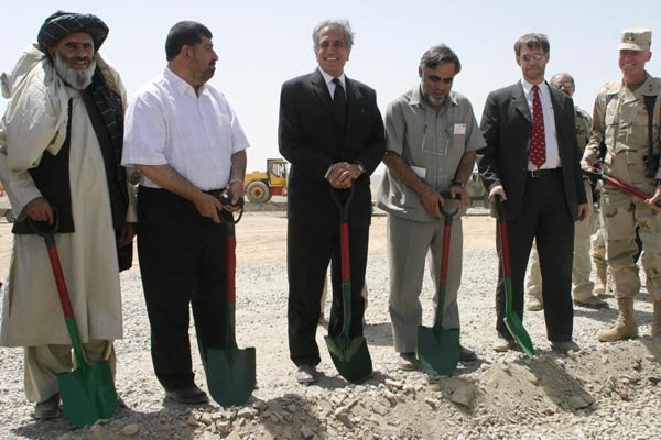Ceremony to start road construction in southern Afghanistan