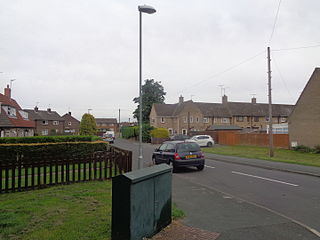 Hallfield Area of Wetherby, West Yorkshire, England