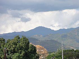 Cerro de Punta as seen from Museo de Arte de Ponce, Ponce, Puerto Rico (DSC03460)