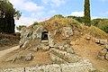 Cerveteri, necropoli della banditaccia, tombe sotterranee a camera scavate nella roccia 02.jpg