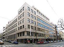 Hlavní budova Československého rozhlasu v Praze na Vinohradské ulici