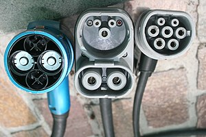 CHAdeMO - Image: Chademo combo 2 iec type 2 connectors side by side