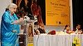 Chandresh Kumari Katoch addressing at the inauguration of the exhibition 'The Last Harvest, in New Delhi on November 19, 2012. The Secretary, Ministry of Culture, Smt. Sangita Gairola is also seen.jpg