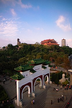 Vue du Grand Bouddha sur Baguashan à Changhua City