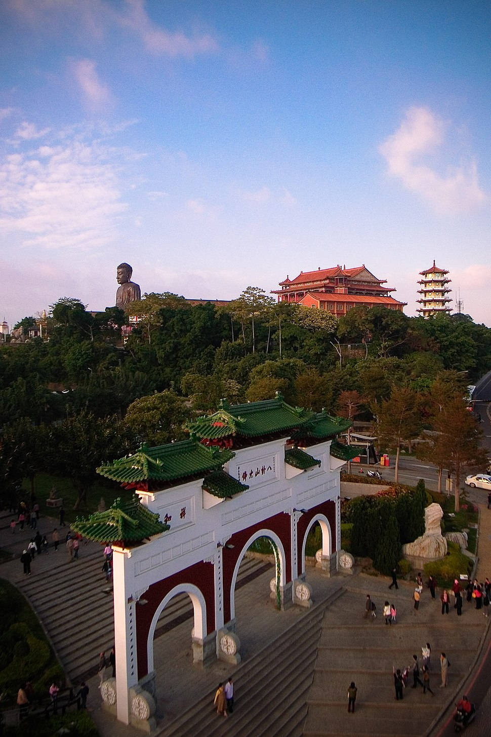 View of the Great Buddha on Baguashan at Changhua City