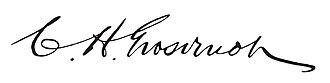 Charles H. Grosvenor - Image: Charles H. Grosvenor signature