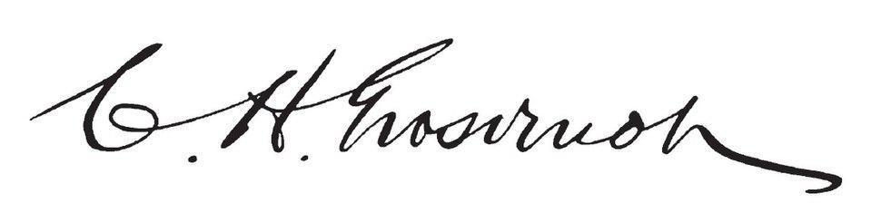 Charles H. Grosvenor's signature