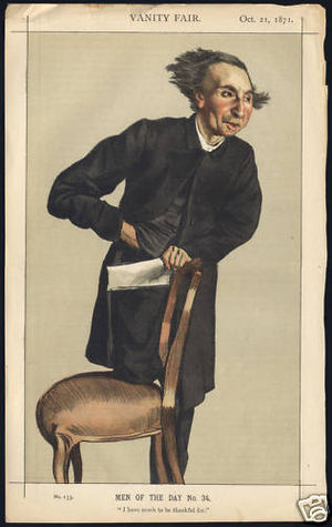 "Charles Voysey (theist) - ""I have much to be thankful for"" As depicted by James Tissot in Vanity Fair, 21 October 1871"