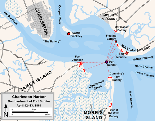 map of the forts in charleston harbor