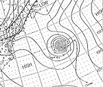 Weather map featuring Hurricane Charlie, the third of the season