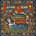 Chartres VITRAIL DE LA VIE DE JÉSUS-CHRIST Motiv 03 VITRAIL DE LA VIE DE JÉSUS-CHRIST-Nativité de Jésus-Christ.jpg