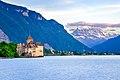 Chateau Chillon Montreux, Alps Castle Lake Léman.jpg
