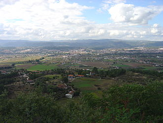 Chaves, Portugal - A glimpse of the sedimentary Chaves basin, consisting of the parishes of Santa Maria Maior and Madalena