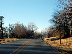 Cherokee City southern limits, February 2013