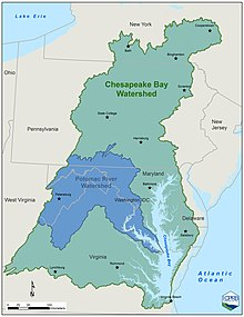 Interstate Commission on the Potomac River Basin - WikipediaPotomac River Map With States