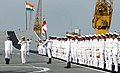 Chief of Naval Staff, Admiral RK Dhowan, inspecting the guard of honour during the the Naval Investiture Ceremony 2015.jpg