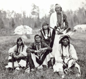 Bad River Band of the Lake Superior Tribe of Chippewa Indians - Image: Chippewa men Bad River