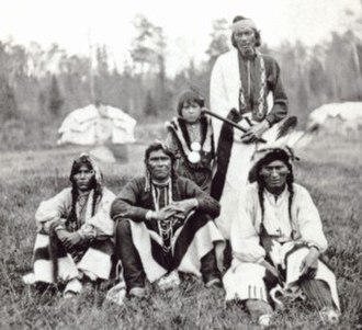 Bad River Band of the Lake Superior Tribe of Chippewa Indians - Historic photo of Ojibwe at Bad River