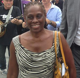 Chirlane McCray - McCray at a rally to protest the closure of Long Island College Hospital in 2013