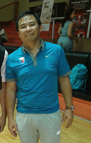Chot Reyes - Chot Reyes during the Gilas Pilipinas practice last May 12, 2014