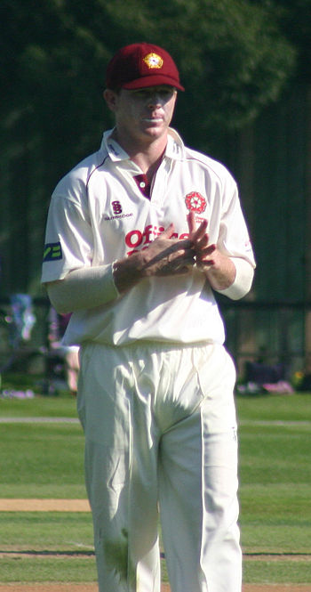 English: Chris Rogers playing for Northamptons...