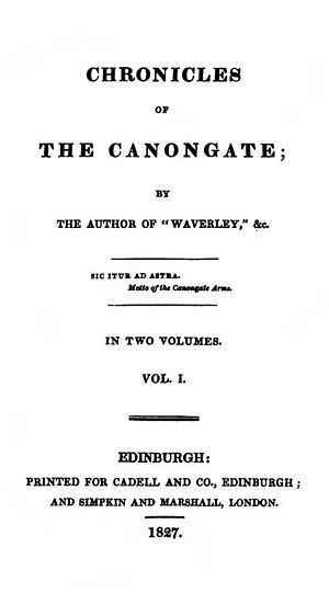 Chronicles of the Canongate - First edition title page