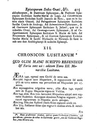 Chronicon Lusitanum - Chronicon Lusitanum
