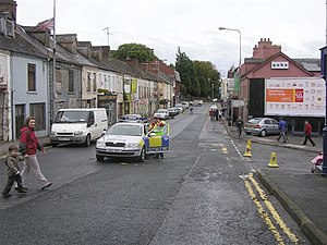English: Church Street, Dungannon The event wa...