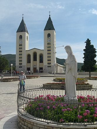Tourism in Bosnia and Herzegovina - The Marian shrine of Our Lady of Medjugorje is one of the biggest  tourist attractions in Bosnia and Herzegovina.
