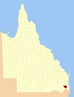 County of Churchill, Queensland - Location within Queensland