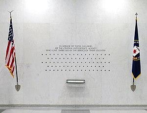 The CIA Memorial Wall at CIA headquarters, loc...