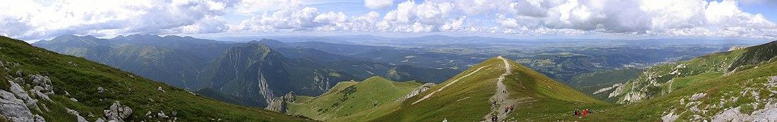 Panorama z podejścia na Ciemniak