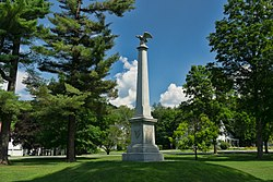 The Park stands in the center of town, and a Civil War memorial stands in the center of The Park.