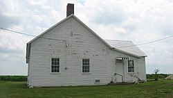 Clarksburg Schoolhouse, west of Clarksburg