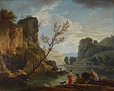 Claude-Joseph Vernet - A River with Fishermen - c 1751 - National Gallery UK.jpg