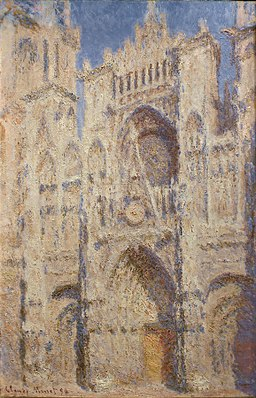 Claude Monet - Rouen Cathedral - The Portal (Sunlight)