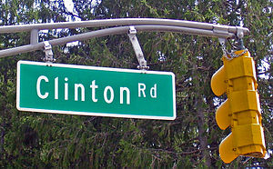 The frequently-photographed sign for Clinton R...