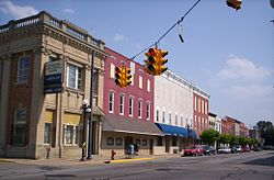 Downtown Clyde, Ohio on South Main Street.