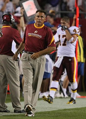 Washington Redskins coach Jim Zorn during the ...