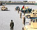 Coalition advisers in south transfer up-armored humvee traiing course to full Afghan control (6417508569).jpg
