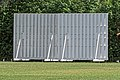 Cockfosters Cricket Club ground sight screen at Cockfosters, London, England.jpg