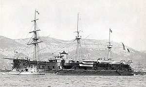 Sfax - The French ironclad Colbert which bombarded Sfax in 1881