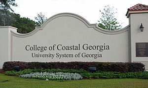 College of Coastal Georgia - Sign on Altama Avenue