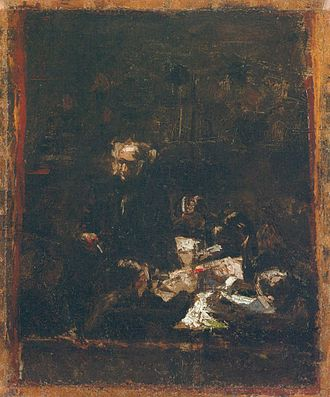 Oil sketch - Thomas Eakins, Sketch for The Gross Clinic.