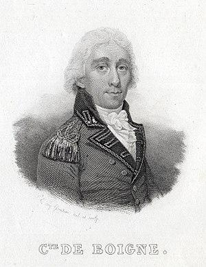 Benoît de Boigne - Portrait engraving of de Boigne by Goutière, 1835.
