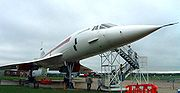 Pre-production Concorde number 101 on display at the Imperial War Museum, Duxford, UK